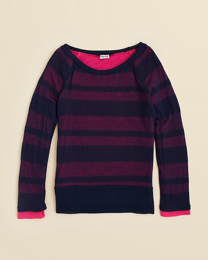 Splendid Girls' Quebec Shadow Stripe Shirt - Sizes 7-14
