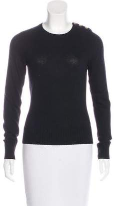 Tory Burch Long Sleeve Scoop Neck Sweater