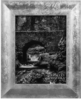 Badgley Mischka HOME Naomi Silver Leaf 11X9 Gallery Frame
