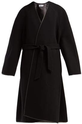 Balenciaga Belted Wool Cocoon Coat - Womens - Black