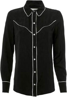Veronica Beard Mayben Western Silk Shirt