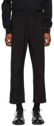 Oamc Black Wool Cropped Trousers
