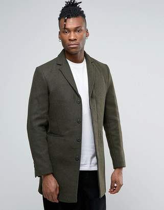 Selected Homme Wool Mix Overcoat