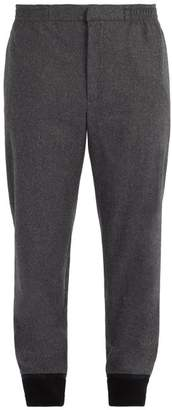 Alexander McQueen Wool Track Pants - Mens - Dark Grey