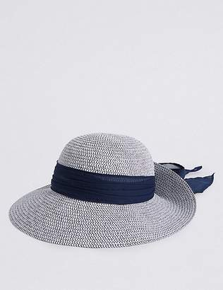 Marks and Spencer Woven Scarf Trim Sun Hat