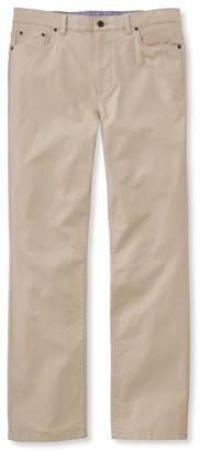 L.L. Bean L.L.Bean Men's Lakewashed Five-Pocket Stretch Khakis, Standard Fit