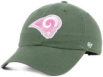 '47 Women's Los Angeles Rams Moss Glitta Clean Up Cap