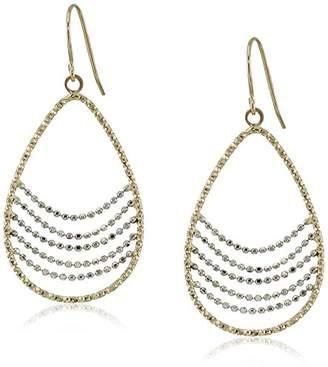 14k Gold Two-Tone Dangle Earrings