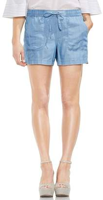 Vince Camuto Tie Waist Chambray Shorts