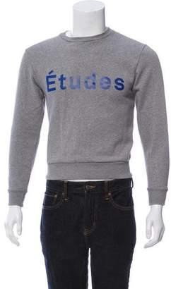 Etudes Studio Woven Crew Neck Sweater w/ Tags