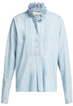 Isabel Marant Ãtoile Atoile - Mora Broderie Anglaise Cotton Blouse - Womens - Light Blue
