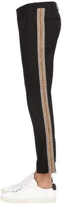 Selectio Embellished Cotton Blend Pants