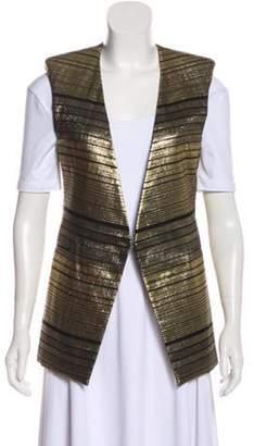 Balmain Casual Sleeveless Vest Gold Casual Sleeveless Vest