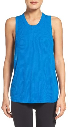 Women's Alo Heat Wave Ribbed Muscle Tee $48 thestylecure.com