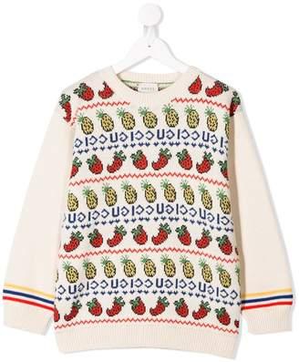 Gucci Kids fruit pattern jumper