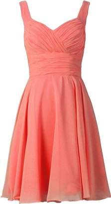ThaliaDress Short Spaghetti Strap Bridesmaid Evening Dresses Prom Gowns T283LF Sky Blue US