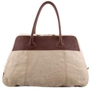 Prada Leather-Trim Shoulder Bag Beige Leather-Trim Shoulder Bag