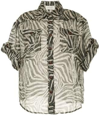 Zimmermann fading zebra print blouse