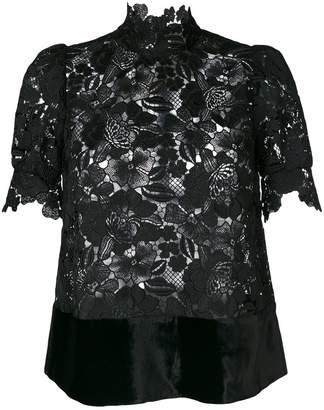 Chicas high neck blouse - Black Uma Sneakernews Online WbtX6d