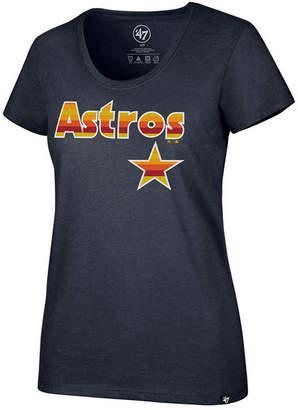 '47 Women Houston Astros Club Scoop Logo T-Shirt