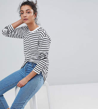 Asos Tall DESIGN Tall Long Sleeve Oversized T-Shirt in Stripe