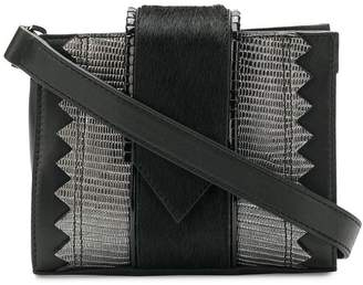Just Cavalli snake embossed panelled belt bag