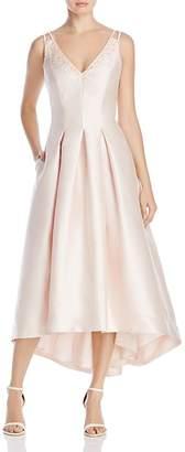 Carmen Marc Valvo Infusion Beaded V-Neck Midi Dress $358 thestylecure.com