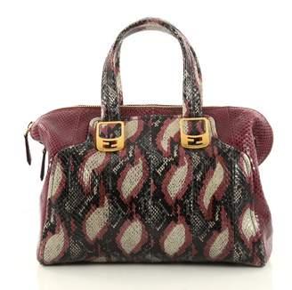 Fendi Purple Leather Handbag