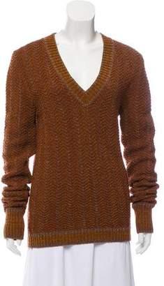 Fendi Chevron V-Neck Sweater