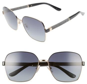 Jimmy ChooWomen's Jimmy Choo Sia 61Mm Oversize Metal Sunglasses - Black