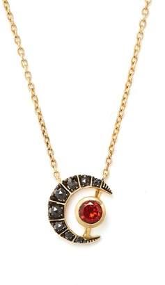 Kate Moss Ara Vartanian - X Diamond, Garnet & Gold Necklace - Womens - Black
