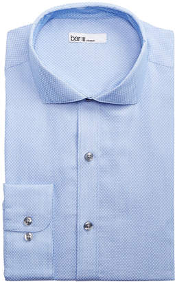 Bar III Men's Slim-Fit Stretch Connected Diamond Dobby Dress Shirt
