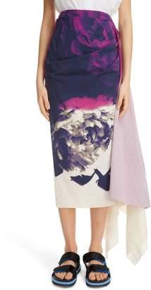 de96073eb6a66 Dries Van Noten Savin Floral Print Asymmetrical Skirt
