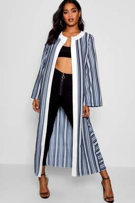 boohoo Katie Stripe Maxi Kimono