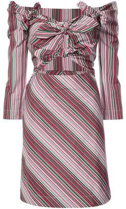 Isa Arfen off-the-shoulder striped dress