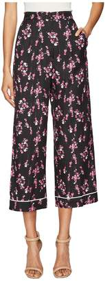 Sonia Rykiel Roses Print Pants Women's Casual Pants