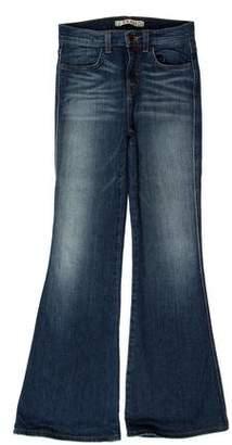 J Brand Mid-Rise Bell Bottom Jeans