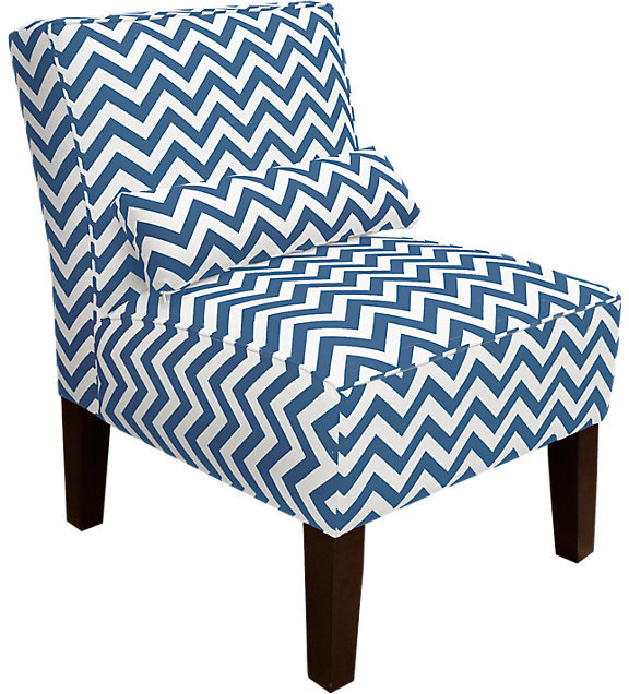 Rooms To Go Courtney View Navy/White Armless Chair