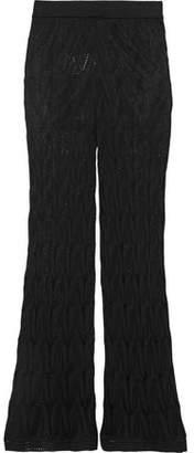M Missoni Crochet-knit Wool-blend Flared Pants