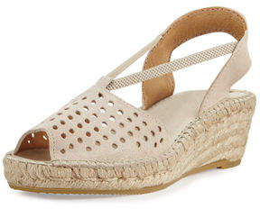 Andre Assous Corrine Suede Espadrille Wedge Sandal