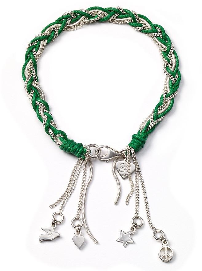 Good Charma Silver Woven Bracelet