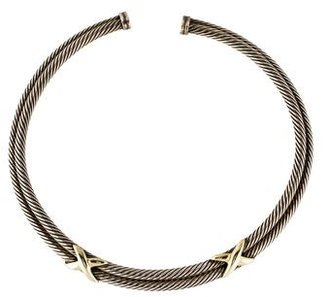 David Yurman Two-Tone Double X Collar Necklace $645 thestylecure.com