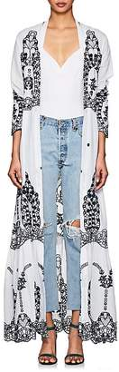 Leone WE ARE Women's Cotton Eyelet Maxi Cardigan Top