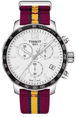 Tissot Men's NBA Cleveland Cavaliers Quickster Chronograph NATO Strap Watch, 42mm