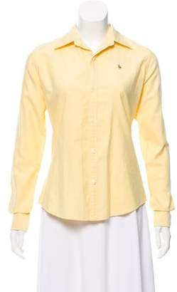 Ralph Lauren Embroidered Button-Up Top