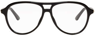 Christian Dior Black Montaigne Aviator Glasses