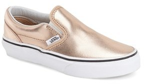 Toddler Girl's Vans 'Classic - Metallic' Slip-On $39.95 thestylecure.com