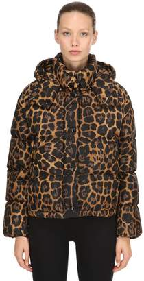 Moncler Caille Animalier Nylon Down Jacket
