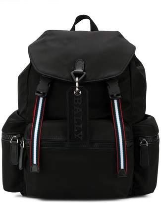Bally stripe detail backpack