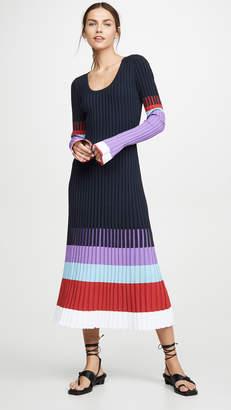 Prabal Gurung Scoop Neck Colorblock Dress